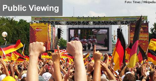 Public Viewing Berlin - Videoleinwand am Brandenburger Tor